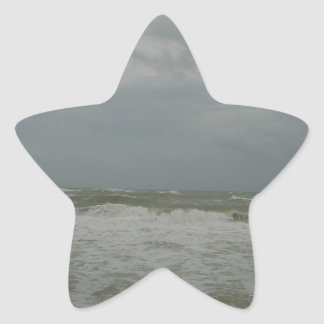 Angry Ocean Star Sticker