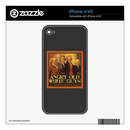 Angry Old White Guys...Like the Founding Fathers Skin For iPhone 4S