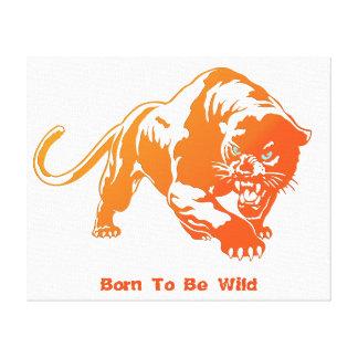 Angry Orange Transparent Tiger Canvas