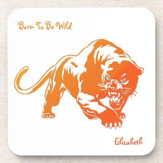 Angry Orange Transparent Tiger Coaster