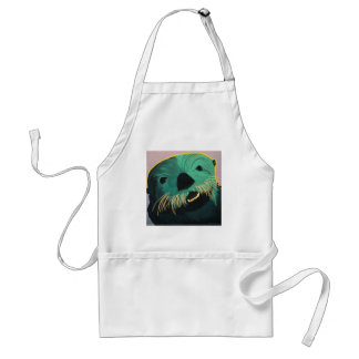 Angry Otter Adult Apron