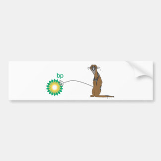 Angry Otter Bumper Sticker