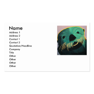 Angry Otter Double-Sided Standard Business Cards (Pack Of 100)