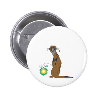 Angry Otter Pinback Button