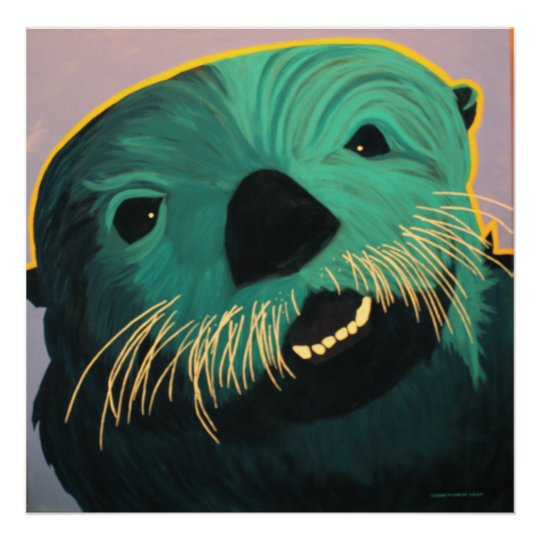 Angry Otter Poster