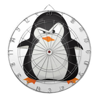 Angry Penguin Dartboard With Darts