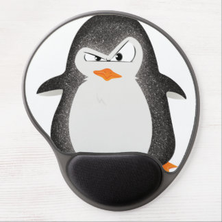 Angry Penguin Glitter Photo Print Gel Mouse Pad