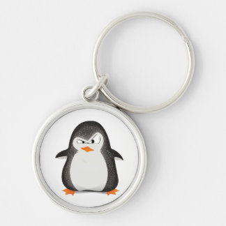 Angry Penguin Glitter Photo Print Keychain