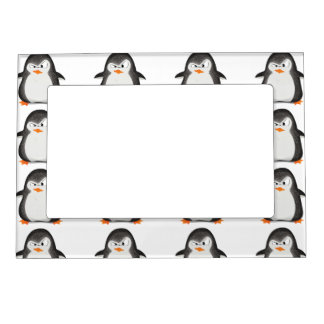 Angry Penguin Glitter Photo Print Magnetic Photo Frame
