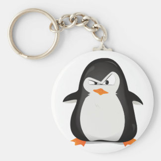 Angry Penguin Keychain