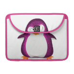 Angry Penguin Pink Glitter Photo Print MacBook Pro Sleeves