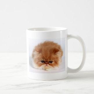 Angry Persian Puff Ball Kitten Coffee Mug