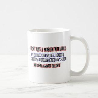 Angry person designs coffee mug