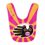 Hand shaped Angry Pet Punk Skunk Baby Bib