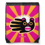 Hand shaped Angry Pet Punk Skunk Drawstring Bag