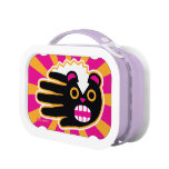 Hand shaped Angry Pet Punk Skunk Lunch Box