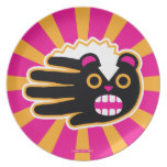 Hand shaped Angry Pet Punk Skunk Plate
