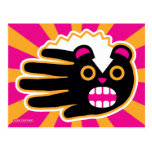 Hand shaped Angry Pet Punk Skunk Postcard
