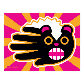 Angry Pet Punk Skunk Postcard