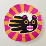Hand shaped Angry Pet Punk Skunk Round Pillow