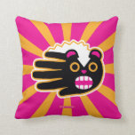 Hand shaped Angry Pet Punk Skunk Throw Pillow