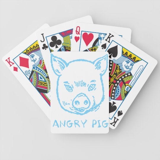 angry pig bicycle playing cards