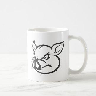 Angry Pig Illustration Coffee Mug