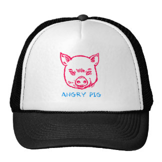 angry pig trucker hat