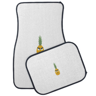 angry pineapple car floor mat