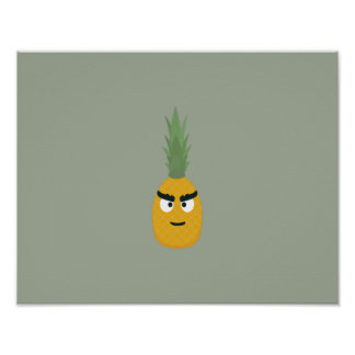 angry pineapple poster