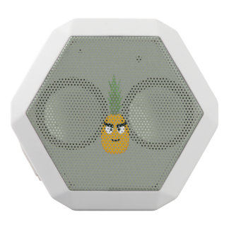 angry pineapple white bluetooth speaker
