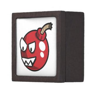 Angry Pink Cartoon Bomb Premium Jewelry Box