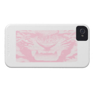 Angry Pink Tiger Horizontal Lines iPhone 4 Case-Mate Case