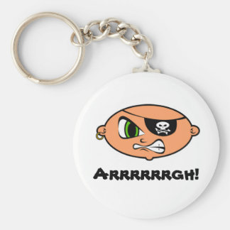 Angry Pirate Kid Key Chains