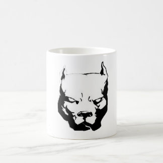 Angry Pitbull Dog Classic White Coffee Mug
