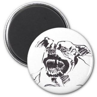 Angry pitbull magnet