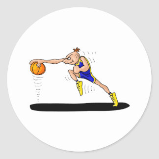Angry Player dribbling Classic Round Sticker