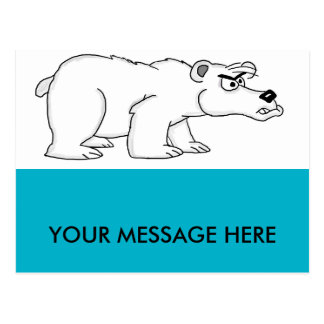 Angry polar bear design cards and paper products