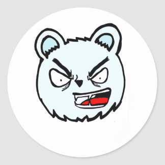 Angry Polar Classic Round Sticker
