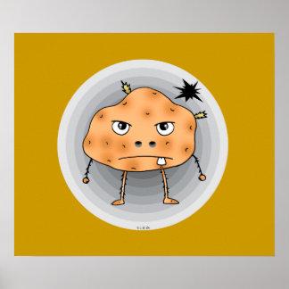 Angry potato print