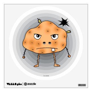 Angry potato wall sticker