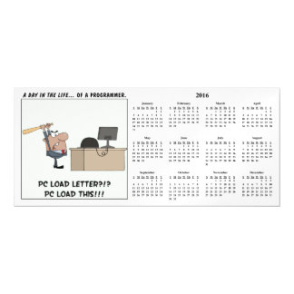 Angry Programmer Hits Computer 2016 Calendar Magnetic Card