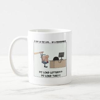 Angry Programmer Hits Computer Basic White Mug