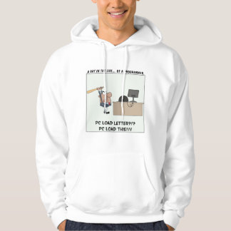 Angry Programmer Hits Computer Hooded Sweatshirt