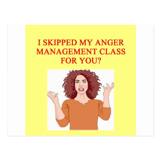 angry psychology joke postcard