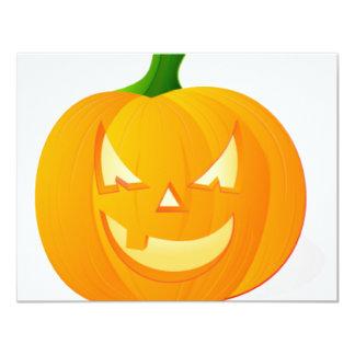 Angry Pumpkin Card