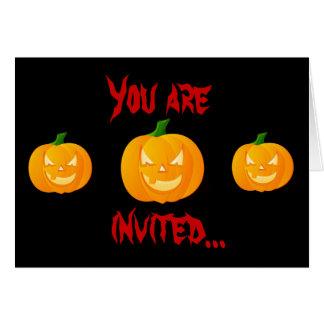 Angry Pumpkin invitation Greeting Card