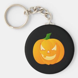 Angry Pumpkin Key Chain