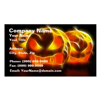 Angry Pumpkins at Halloween Business Card
