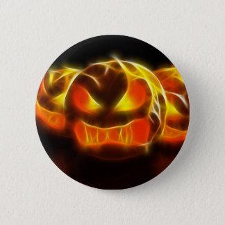 Angry Pumpkins at Halloween Pinback Button